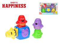 Kostka magnetická 7,5 cm s panáčky 6 cm 4 ks Baby´s Happiness