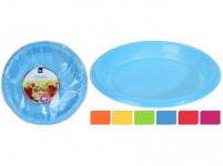 tanier 18cm plastový (30ks) jednorazový - mix farieb
