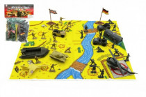 Vojáci s mapou a doplňky plast - mix variant či barev
