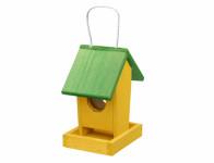 Krmítko č.1 dřevěné žluto zelené