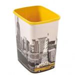 koš odpadkový 25l FLIP NEW YORK bez víka plastový