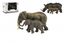Zvieratká safari ZOO 14cm sada plast 2ks 2 druhy
