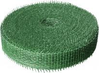 Jutová stuha 4 cm x 25 m - tmavo zelená