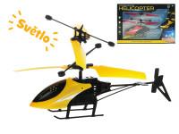 Helikoptéra 20 cm reagujúce na pohyb ruky na batérie svietiace s USB - mix farieb
