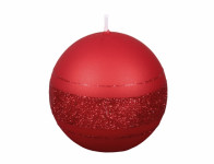 Sviečka vianočné FENIX GUĽA metalická matná d8cm