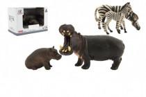 Zvieratká safari ZOO 11cm sada plast 2ks 2 druhy