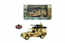 Auto RC vojenskej na diaľkové ovládanie 27MHz plast 20cm na batérie so svetlom - mix variantov či farieb