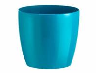 Obal na květník MADEIRA LUXY plast modro zelený d14x12cm