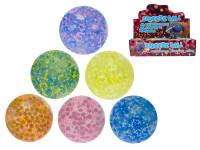 Loptička strečový s guličkami 7 cm - mix farieb