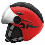 Spokey MONTANA lyžiarska prilba s čelným sklom, čierno-červená, vel. L / XL