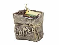 Sviečka COFFEE BAG zdobená 8x11x11cm
