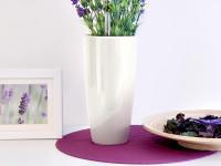 Samozavlažovací kvetináč GreenSun LIQUIDS priemer 35 cm, výška 61 cm, biely