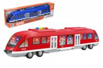 Metro / vlak plast 44cm na batérie so svetlom so zvukom 2 farby