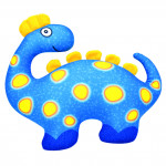 Látkový Dinosaurus modrý 33x28cm