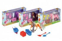 Kůň Poník s doplňky plast - mix variant či barev