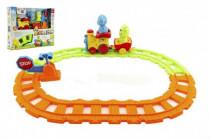 Vlak / Vláčik s vagóniky a zvieratkami 30cm plast na batérie so svetlom a zvukom v krabici 24m +
