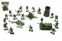 Sada vojaci s doplnkami plast v sáčku