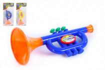 Trumpeta plast malá 24cm asst. - mix barev