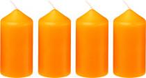 Sviečka adventná 40x75 mm - oranžová - 4 ks