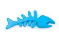Dentálnej gumová hračka ryba, 13 cm, modrá, Domestic