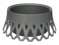 Plastia Zardin samozavlažovacie Roseta - strieborná 30 cm