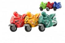 Motorka plast 10cm na zotrvačník - mix farieb