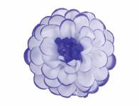Kvet JIŘINA umelý bielo fialový 8cm