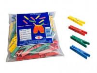 štipce na bielizeň plastové (50ks) - mix farieb