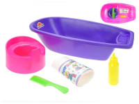 Vanička Baby set 40 cm s doplnkami - mix farieb