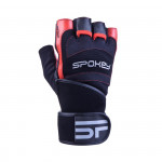 Spokey Miton fitness rukavice černo-červená vel. M