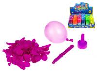 Vodné bomby s plničkou 60 ks v tube - mix farieb
