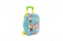 Sada starostlivosti o bábätko + sada doktor plast 19ks v kufri na kolieskach