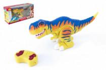 Dinosaurus chodiace RC plast 38cm na batérie so zvukom sa svetlom 2,4GHz