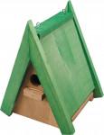 Budka zahnízďovací - dřevěná střecha sýkorník malý špičatý