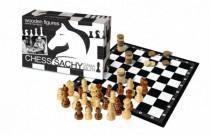 Šachy+dáma+mlýn dřevo společenská hra