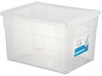 box úložný SCATOLA 20l, 40x30x24cm s vekom plastový, TRA
