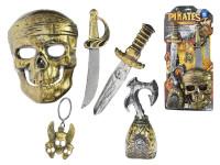 Sada pirátská maska 16x21 cm s doplňky 5 ks