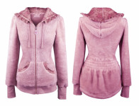 Mikina Teddy GARDEN GIRL CLASSIC PINK fleecová velikost S