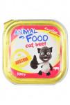 ANIMAL FOOD 100g konz.paštika kočka hovězí