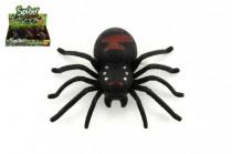 Pavúk na kľúčik plast 9cm - mix farieb
