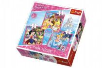 Puzzle 3v1 Princezné Disney 20x19,5cm