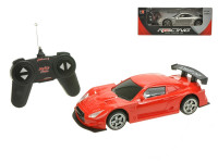 R/C auto sportovní 19 cm na baterie 27 MHz plná funkce se světlem - mix barev