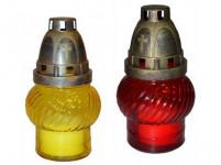 lampa hřbitovní sklo 14cm (30g) (hoří 9hod) paraf. - mix barev