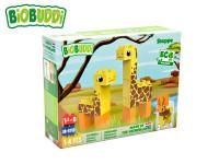 BiOBUDDi stavebnice Wildlife Steppe 2 v1 žirafa / jeleň 14 ks