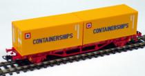 Kontejnerový vagon 2x20´ Containerships