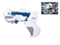 Vesmírná pistole 18 cm na baterie se světlem a zvukem - mix barev