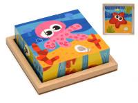 Kocky podmorský svet 3,5x3,5x3,5 cm 9 ks vo fólii