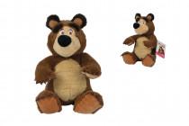 Máša a medveď Plyšový medveď 20cm, sediaci