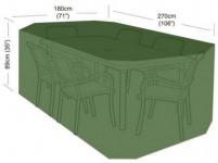 plachta krycia na set 6 stoličiek + obdĺž. stôl 270x180x89cm, PE 90g / m2
