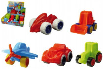 Mini Roller dopravní prostředky plast 8 druhů 12m+